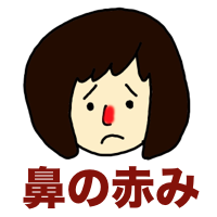 毛細血管拡張症の鼻の赤み